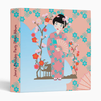 Geisha girl birthday party 3 ring binders