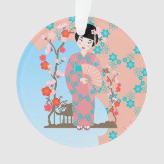 Geisha girl birthday party ornament