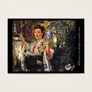 Geisha Girl Holding Ginger Jar Business Card