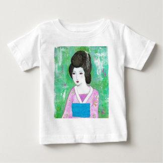 Geisha Girl Mixed Media Abstract Painting Infant T-shirt