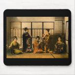 Geisha Girls Magic Lantern Slide Mouse Pad