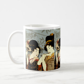 geisha girls classic white coffee mug