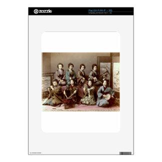 Geisha Girls Playing Instruments - Kusakabe Kimbei Skin For iPad