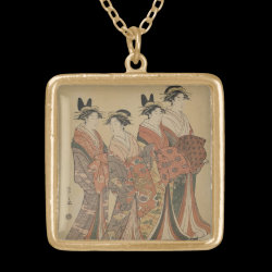 Geisha Gold Plated Necklace