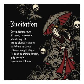 Geisha gótico comunicados personales