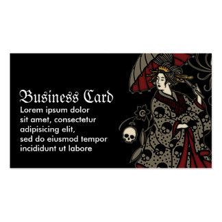 Geisha gótico tarjetas de visita