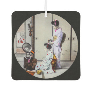 Geisha Hair Dressing Vintage Japanese 芸者 Car Air Freshener