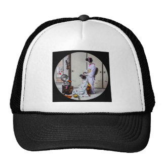 Geisha Hair Dressing Vintage Japanese 芸者 Trucker Hat