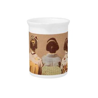 geisha hairstyles beverage pitcher
