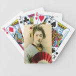 Geisha hermoso baraja de cartas