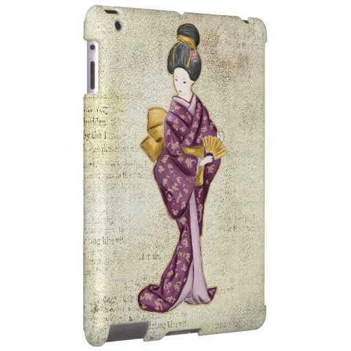 Geisha hermoso del japonés del vintage