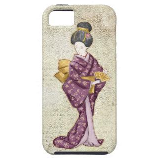 Geisha hermoso del japonés del vintage iPhone 5 Case-Mate coberturas