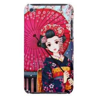 Geisha hermoso en tiempo de primavera iPod Case-Mate funda