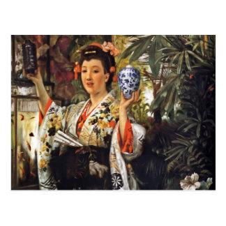 Geisha Holding a Ginger Jar Postcard