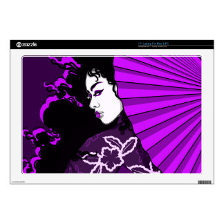 "Geisha in (Deep) Purple Decal For 17"" Laptop"