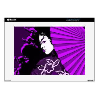 Geisha in (Deep) Purple Laptop Decals