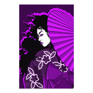 Geisha in (Deep) Purple Stationery