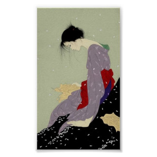 Geisha in Winter Poster