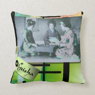 Geisha - Japanese themed pillow