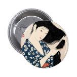 Geisha japón pin redondo 5 cm