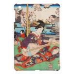 Geisha japonés del ukiyo-e del vintage que juega e iPad mini protectores