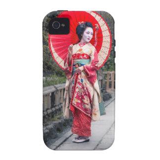 Geisha japonés en Kyoto Case-Mate iPhone 4 Funda