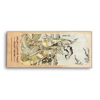 Geisha japonés fresco de la voluta del ukiyo-e del sobres