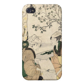 Geisha japonés fresco de las señoras del ukiyo-e t iPhone 4/4S carcasa