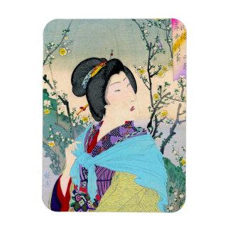 geisha japonés oriental fresco de la obra clásica  iman de vinilo