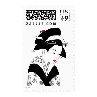 Geisha japonés sellos