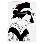 Geisha japonés tarjeta