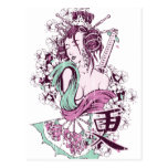 Geisha japonés tarjeta postal