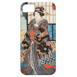 Geisha japonés Utagawa del ukiyo-e clásico del vin iPhone 5 Fundas