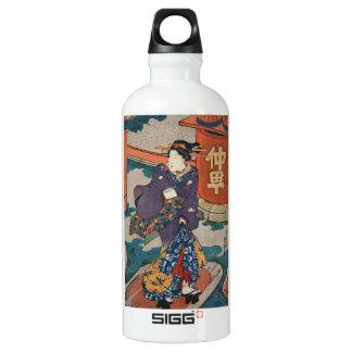 Geisha japonés Utagawa del ukiyo-e del vintage