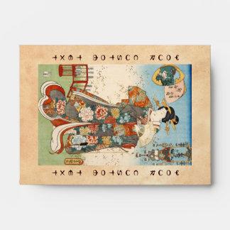 Geisha japonés Utagawa del ukiyo-e del vintage clá