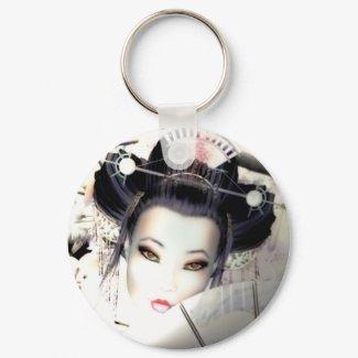 Geisha Keyring keychain