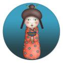 Geisha Kokeshi, sticker sticker