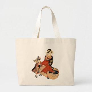 Geisha Large Tote Bag