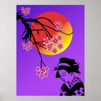 Geisha Life Poster