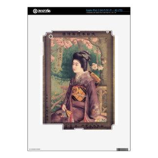 Geisha Luggage Tag Decal For iPad 3