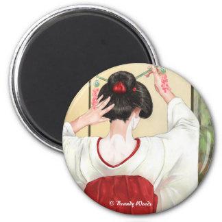 Geisha Refrigerator Magnet