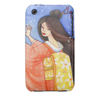 Geisha Maiko Sakura Blossom Art Custom iPhone Case