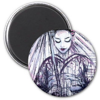 Geisha moderno imán redondo 5 cm