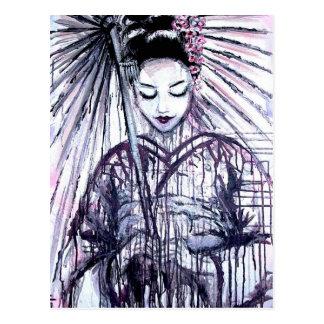 Geisha moderno postal