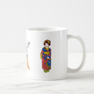 Geisha Classic White Coffee Mug