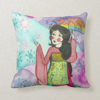 Geisha of New Beginnings Pillows