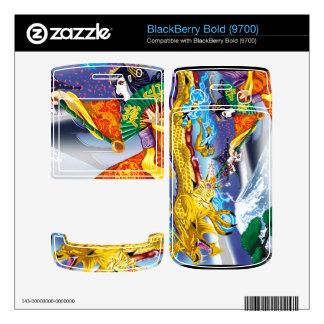 Geisha Of The Dragons BlackBerry Bold 9700 Vinyl S Skin For BlackBerry