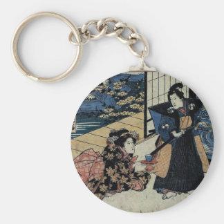 Geisha Offering Tea Keychain