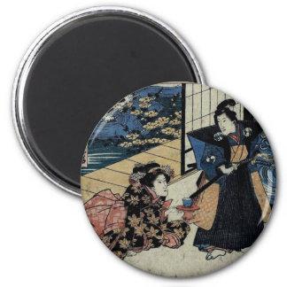 Geisha Offering Tea Magnet