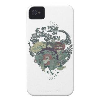 Geisha Oriental de Japón del dragón de Wellcoda Carcasa Para iPhone 4 De Case-Mate